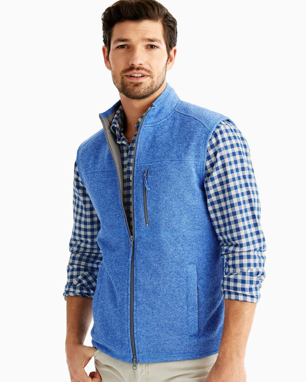 Johnnie O Outerwear Wes Zip Front Vest- Tide