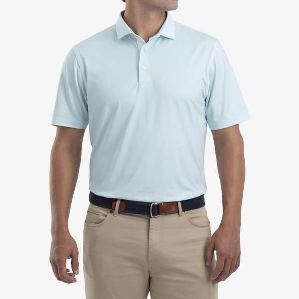 Johnnie O Polos Robben Printed Performance Polo- Gulf Blue