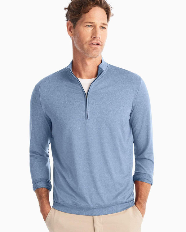 Johnnie O Sweaters Flex PREPformance 1/4 Zip- Laguna Blue
