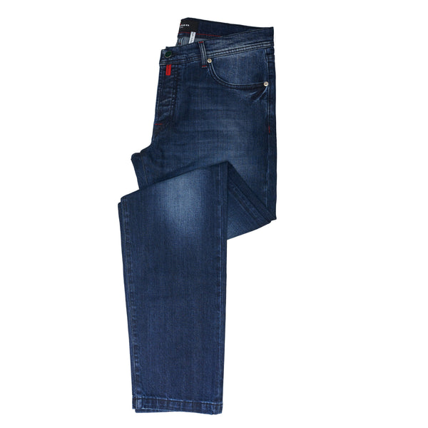 Kiton 5-Pockets Kiton Classic Mid Wash Denim