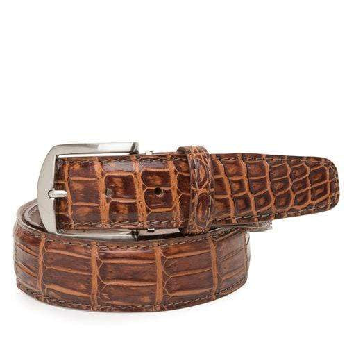 L.E.N. Belt Rum Two Tone Nile Crocodile