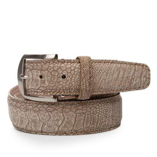 L.E.N. Belt Stone Washed Ostrich Leg