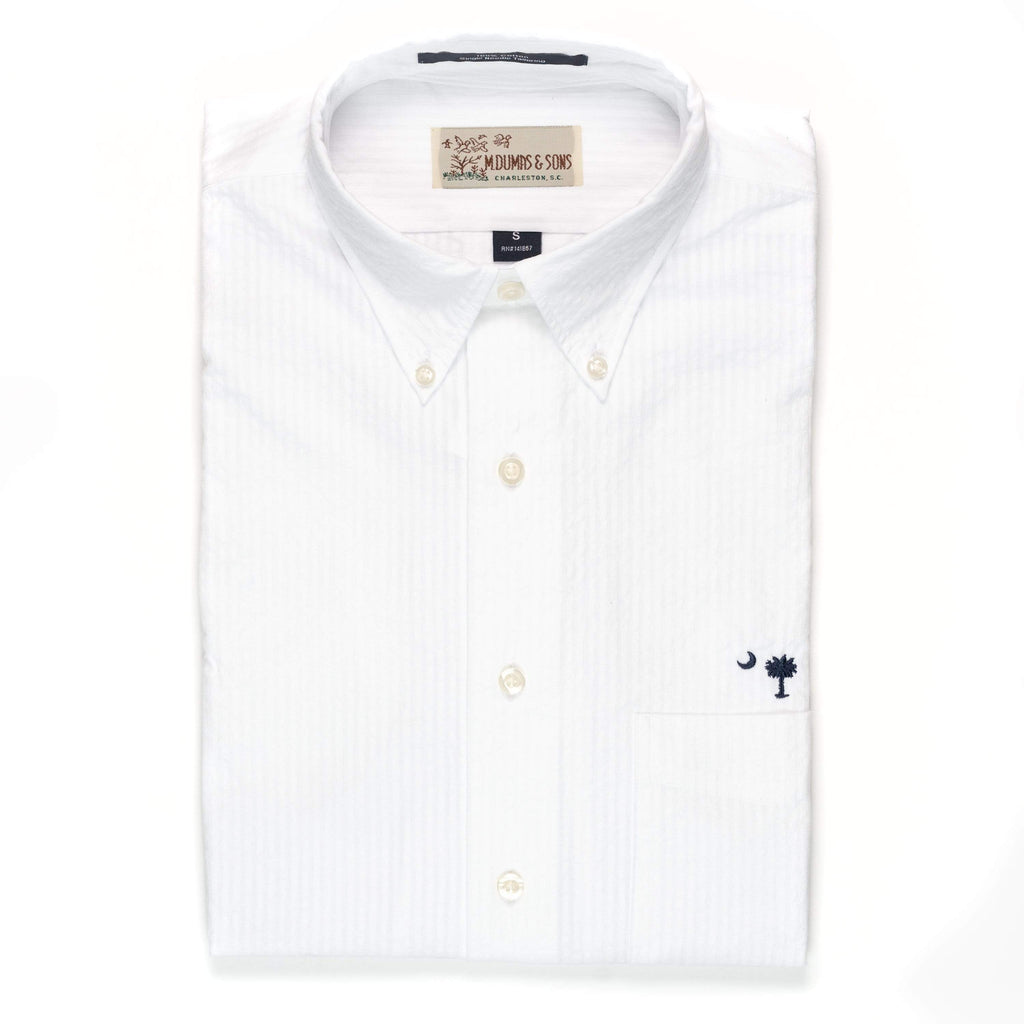 M. Dumas & Sons Sport Shirts McClellanville Short Sleeve Seersucker Sport Shirt