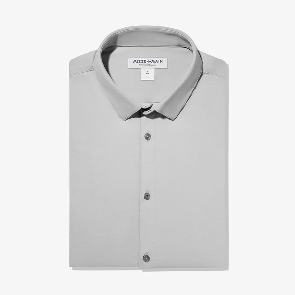 Mizzen & Main Dress Shirts Cunningham Dress Shirt- Mid Grey