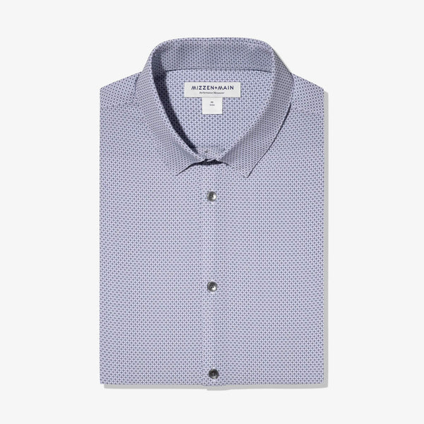 Mizzen & Main Dress Shirts Leeward Navy Grey Geo Print