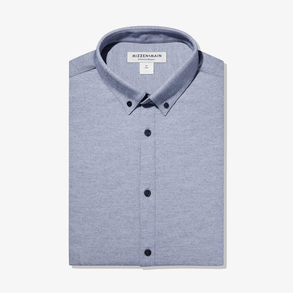 Mizzen & Main Sport Shirts Halyard Light Blue Chambray