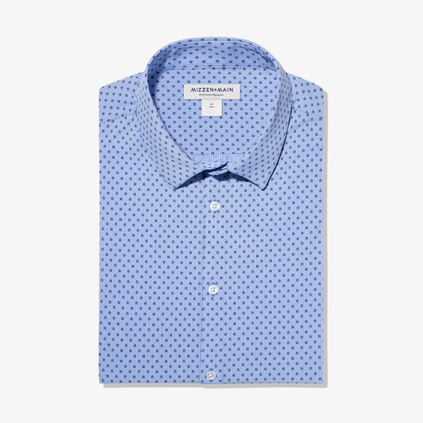 Mizzen & Main Sport Shirts Leeward Dress Shirt- Floral Stripe Print