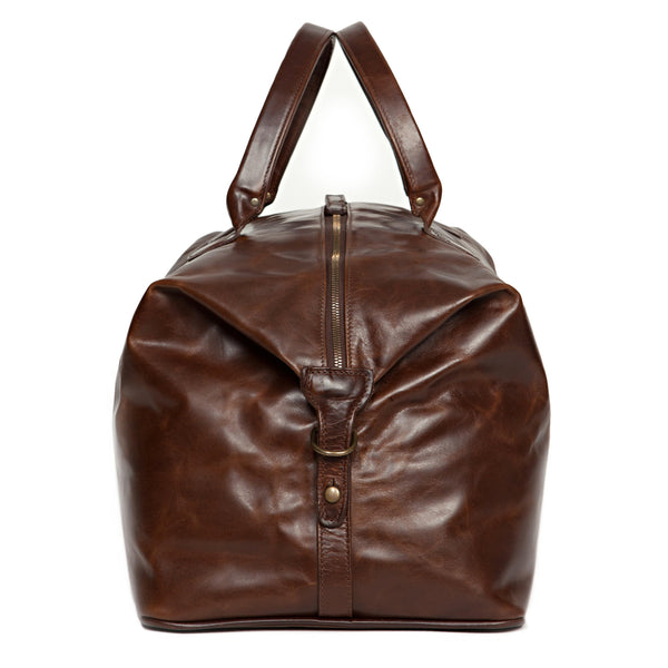 Moore & Giles Luggage Moore & Giles- Benedict Weekend Bag Bompton Brown