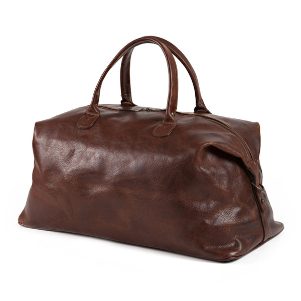 Moore & Giles Luggage Moore & Giles- Benedict Weekend Bag Titan Milled Brown