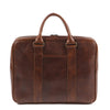 Moore & Giles Luggage Moore & Giles- Bryant Tech Briefcase Titan Milled Brown
