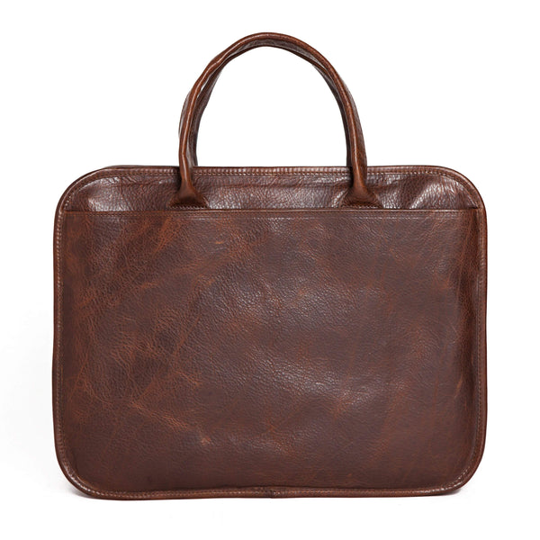 Moore & Giles Luggage Moore & Giles- Miller Standard Attache' Titan Milled Brown