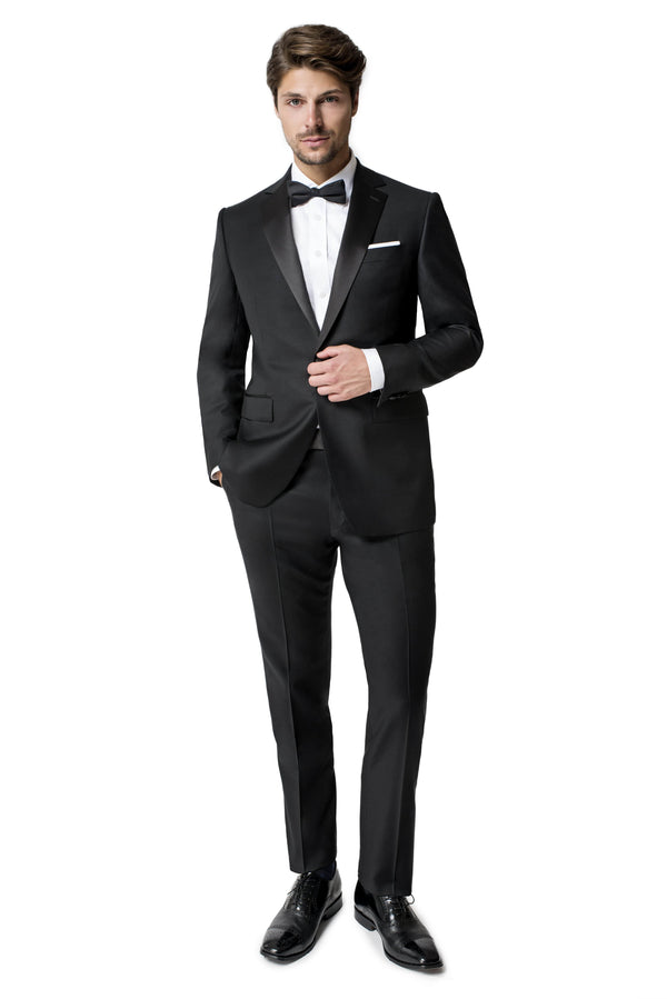 Paul Betenly Formal Wear Nelson Classic Fit Black Notch Lapel Tuxedo