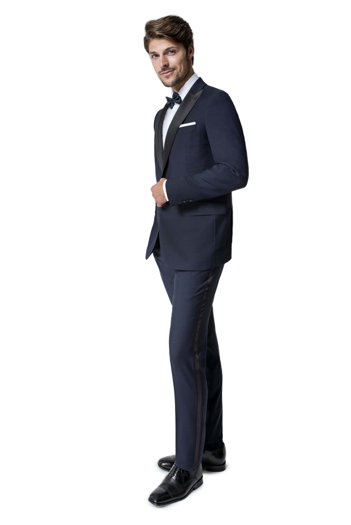 Paul Betenly Formal Wear Preston Classic Fit Midnight Peak Lapel Tuxedo
