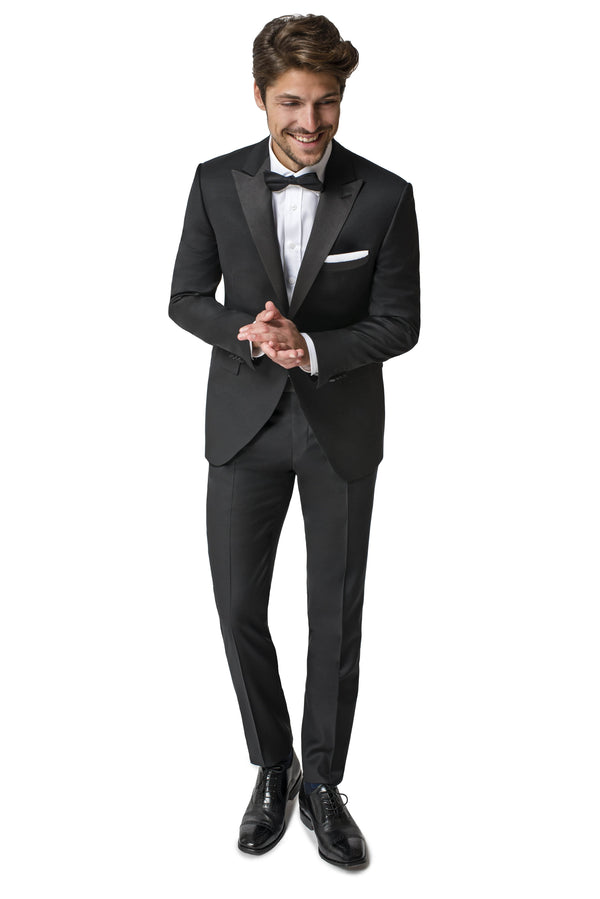 Paul Betenly Formal Wear Rico Slim Fit Black Peak Lapel Tuxedo