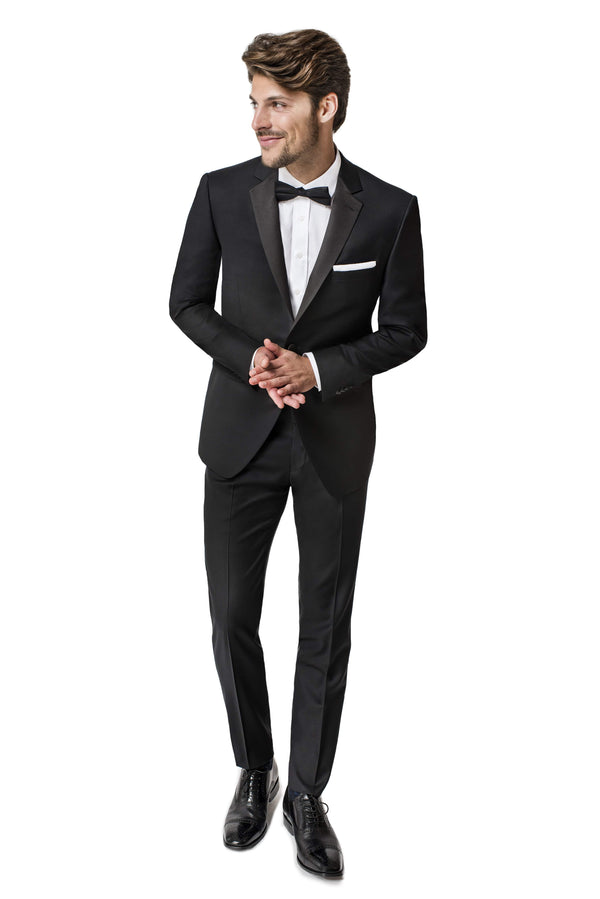 Paul Betenly Formal Wear Rocco Slim Fit Black Notch Lapel Tuxedo