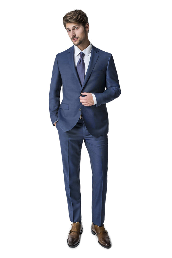 Paul Betenly Suits Ronaldo Slim Fit Navy Blue Suit
