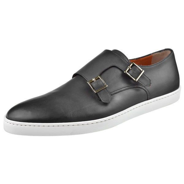 Santoni Shoes Santoni Fremont Double Monk Sneaker Fremont-G8-Grey