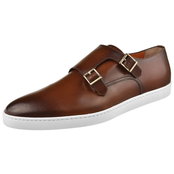 Santoni Shoes Santoni Fremont Double Monk Sneaker Fremont-W2-Brown