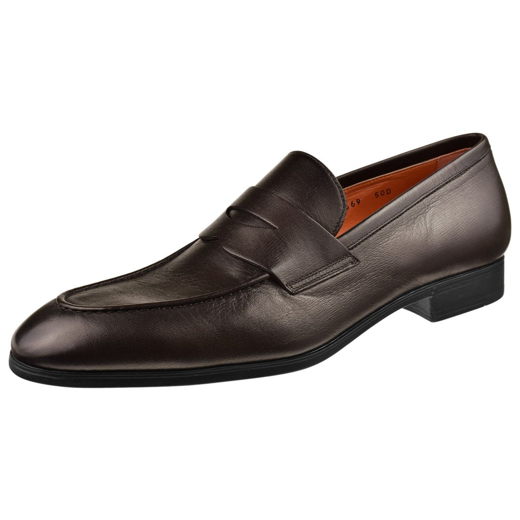 Santoni Shoes Santoni Gavin Penny Loafer Gavin-B3-Dkbrown