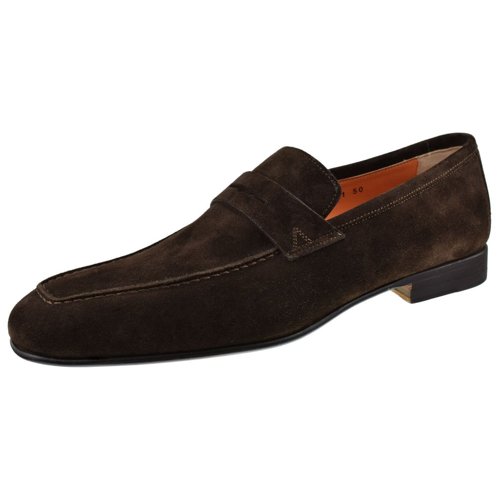 Santoni Shoes Santoni Imam Suede Penny Loafer Imam-T50-Dkbrown