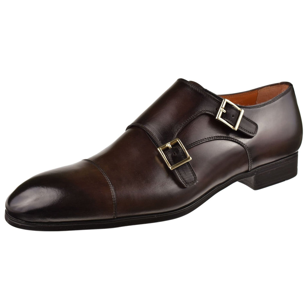 Santoni Shoes Santoni Inca Double Monk Inca-Dkbrown