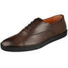 Santoni Shoes Santoni Mens Durbin Cap Toe Dress Sneaker Durbin-D3-Brown
