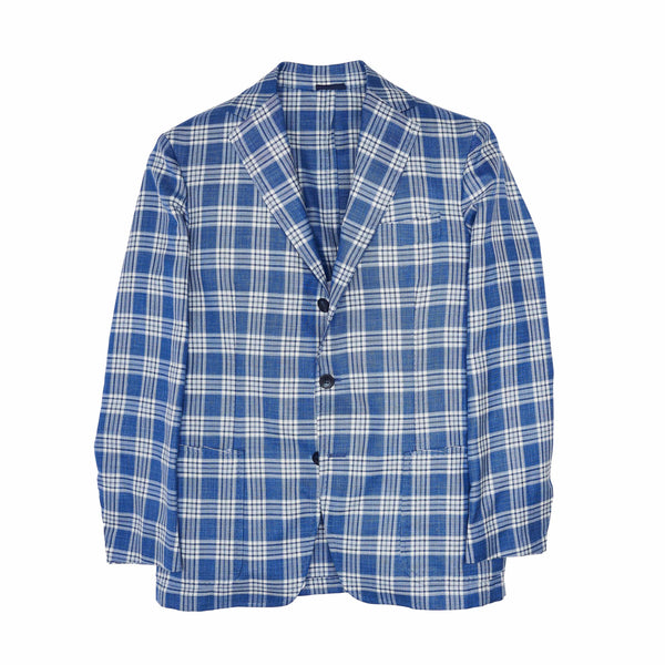 Sartorio Sport Coats Blue/White Plaid Sport Coat
