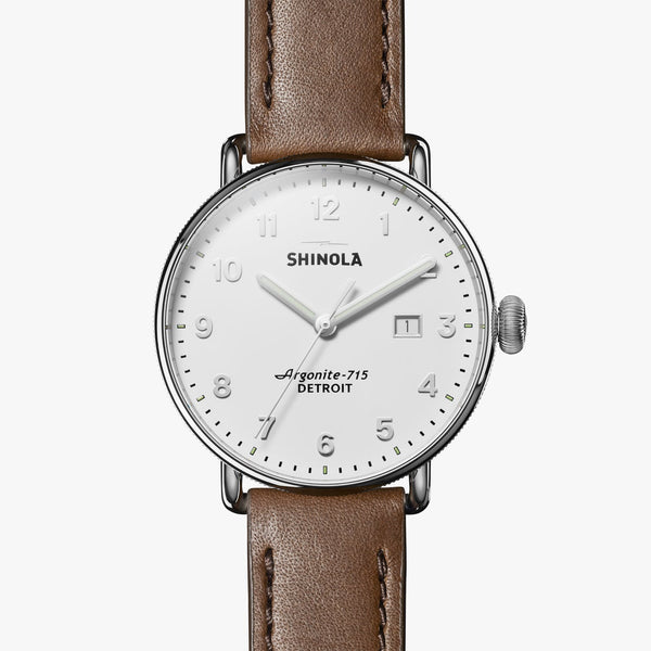 Shinola Watches The Canfield 43 MM Alabaster Dial