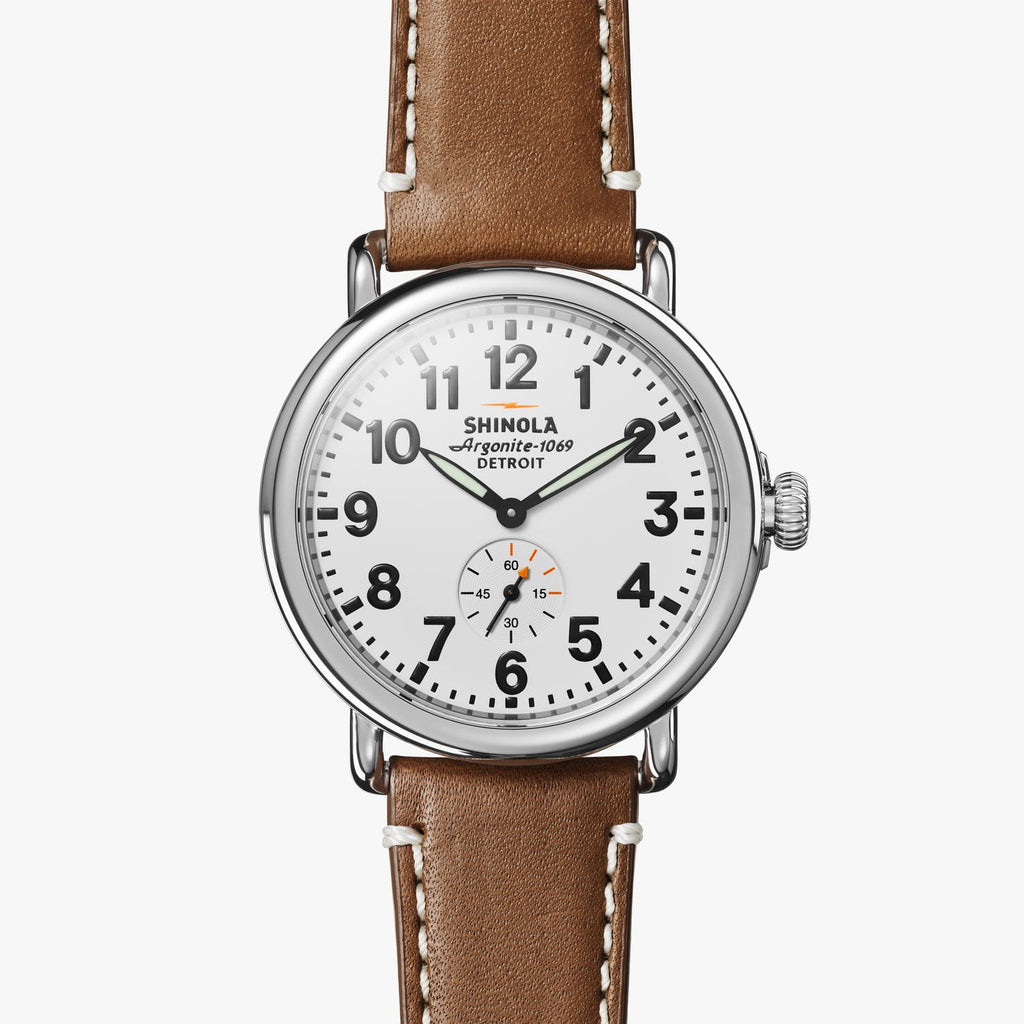 Shinola Watches The Runwell 41 MM White Dial
