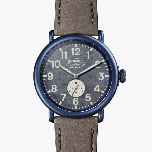 Shinola Watches The Runwell 47 MM Blue Watercolor Dial