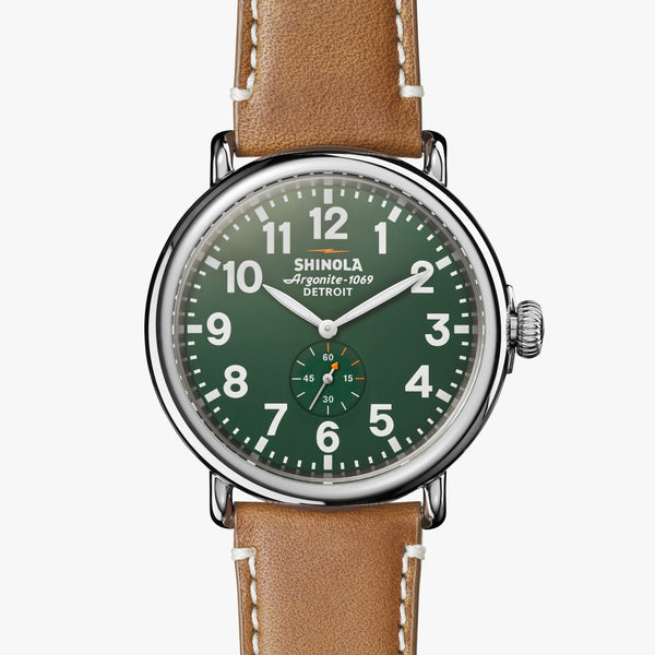 Shinola Watches The Runwell 47 MM Green Dial