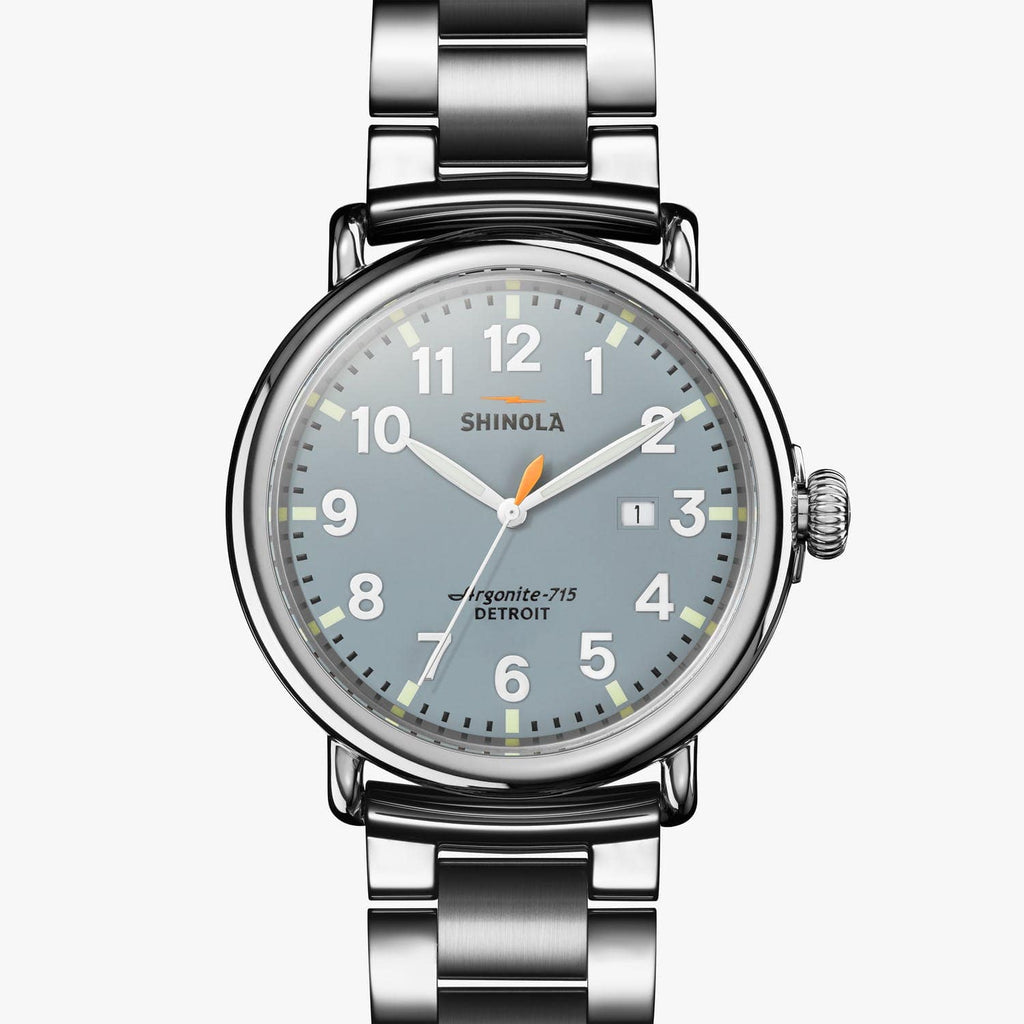 Shinola Watches The Runwell 47 MM Slate Blue Dial
