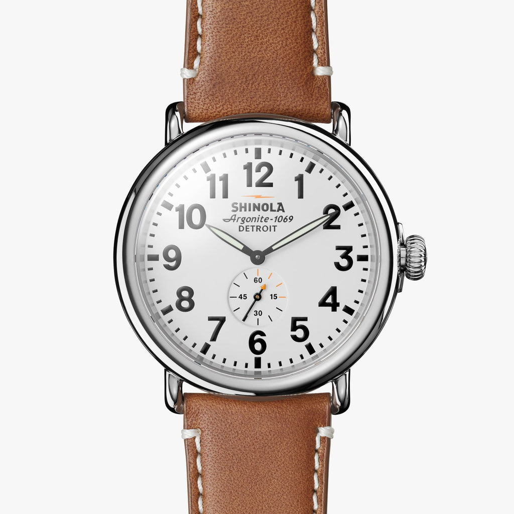 Shinola Watches The Runwell 47 MM White Dial