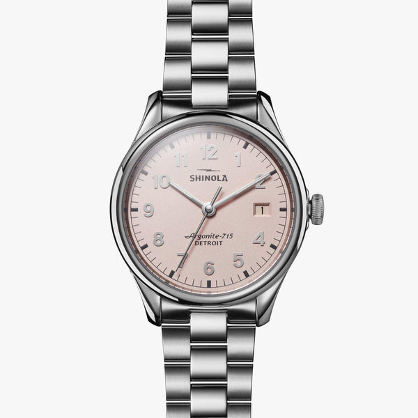 Shinola Watches The Vinton 38 MM Light Pink Dial
