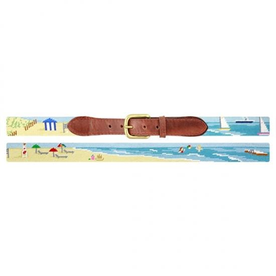 Smathers & Branson Belt Beach Scene Needlepoint Belt