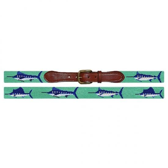 Smathers & Branson Belt Billfish Needlepoint Belt