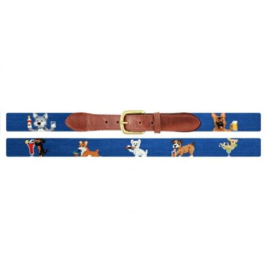 Smathers & Branson Belt Booze Hounds Needlepoint Belt