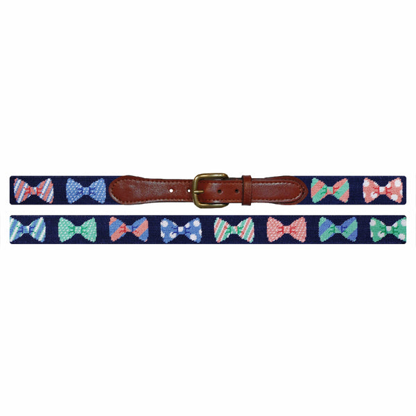 Smathers & Branson Belt Bow Tie Needlepoint Belt