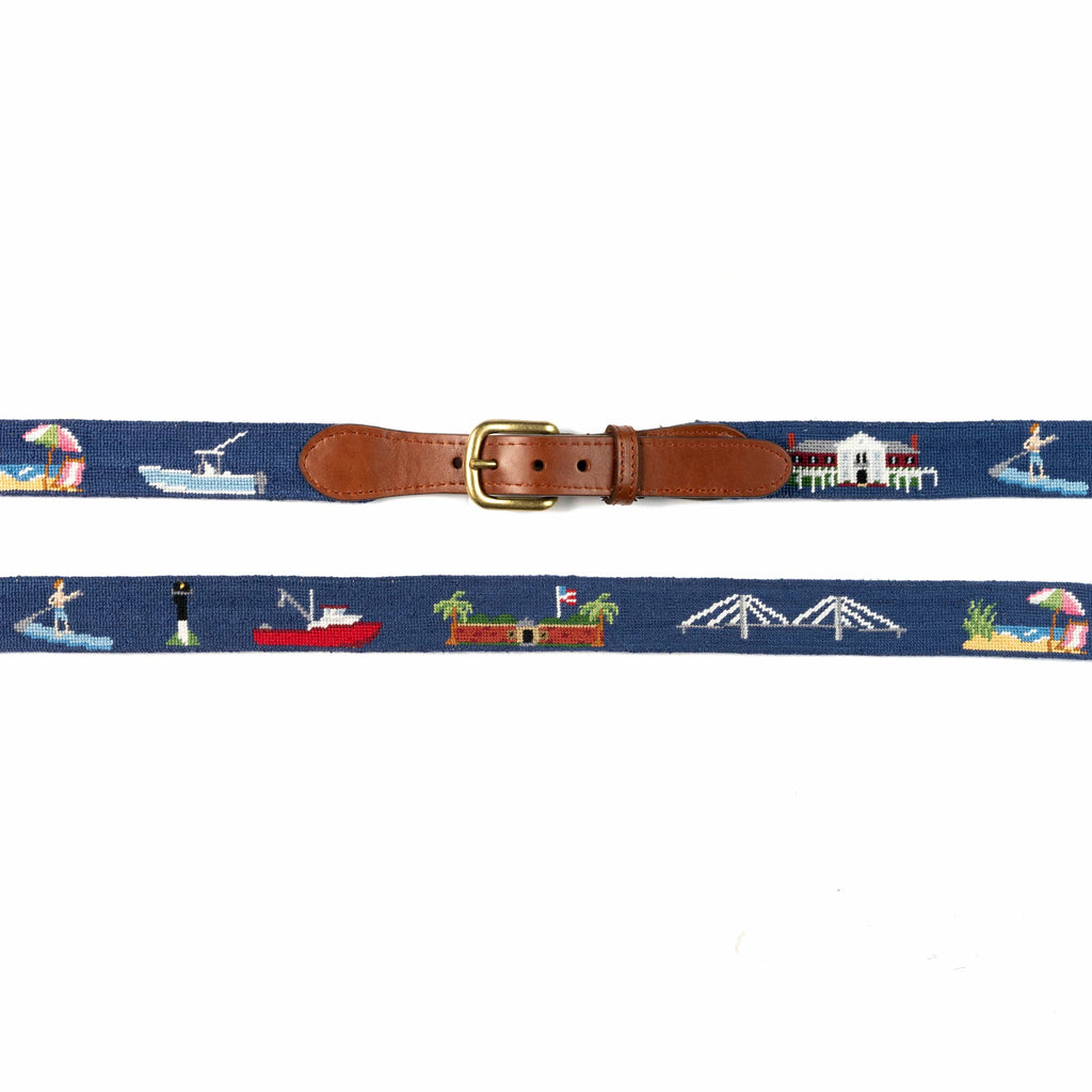 Smathers & Branson Belt Mount Pleasant Needlepoint Belt