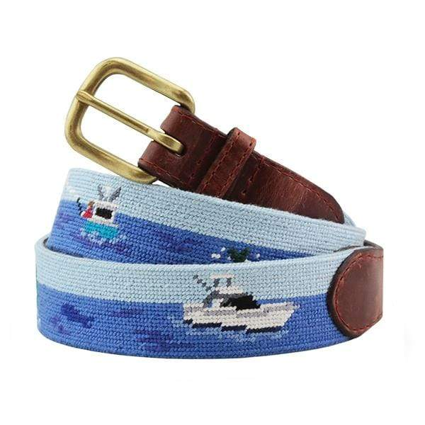 Smathers & Branson Belt Offshore Fishing Needlepoint Belt