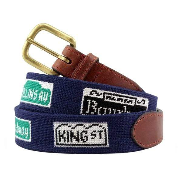 Smathers & Branson Belt Party Streets Needlepoint Belt
