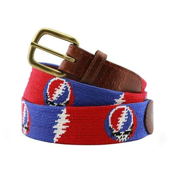 Smathers & Branson Belt Steal Your Face Bolts Needlepoint Belt