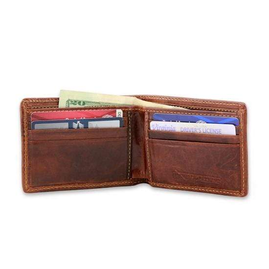 Smathers & Branson Small Leather Goods Clemson Needlepoint Bi-Fold Wallet