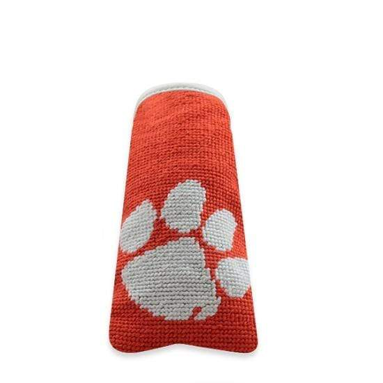 Smathers & Branson Small Leather Goods Clemson Needlepoint Putter Cover