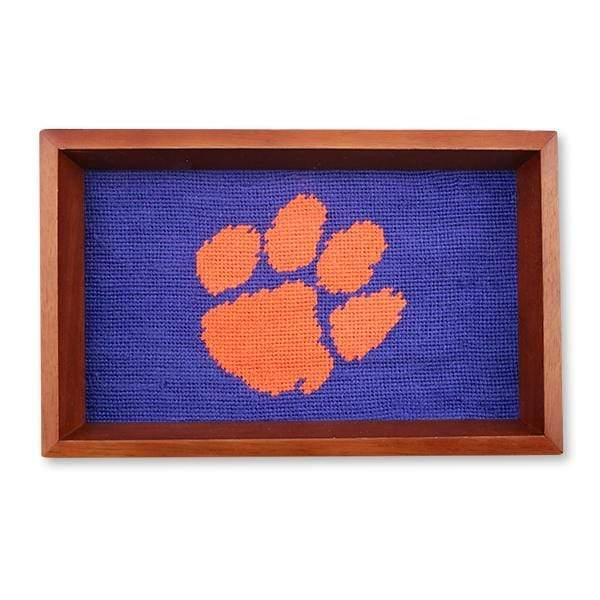 Smathers & Branson Small Leather Goods Clemson Valet Tray
