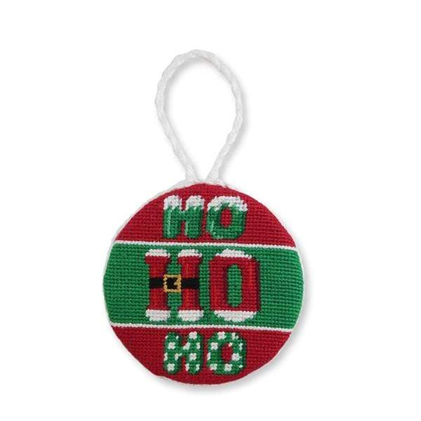 Smathers & Branson Small Leather Goods Ho Ho Ho! Needlepoint Ornament