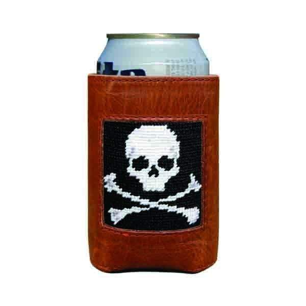 Smathers & Branson Small Leather Goods Jolly Roger Can Cooler