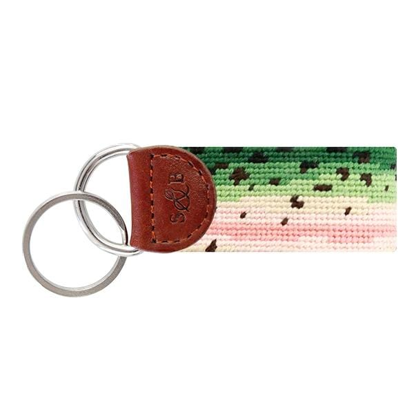 Smathers & Branson Small Leather Goods Rainbow Trout Skin Key Fob