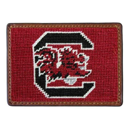 Smathers & Branson Small Leather Goods USC Needlepoint Card Holder