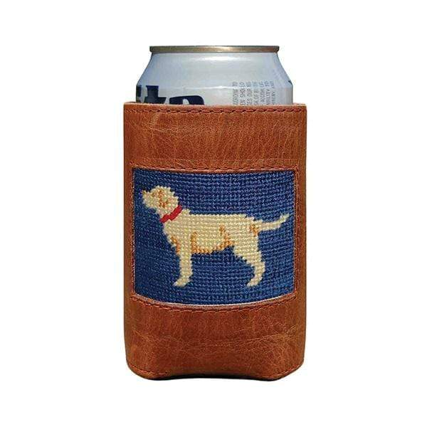 Smathers & Branson Small Leather Goods Yellow Lab Can Cooler